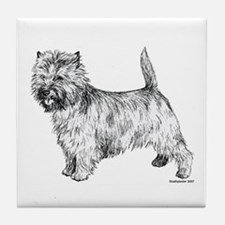 Cairn Terrier pen & ink Tile Coaster