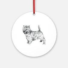 Cairn Terrier pen & ink Ornament (Round)