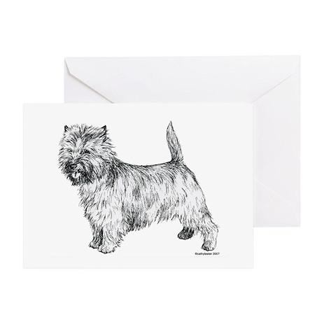 Cairn Terrier pen & ink Greeting Card