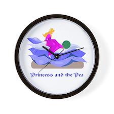 Princess and the pea  Wall Clock