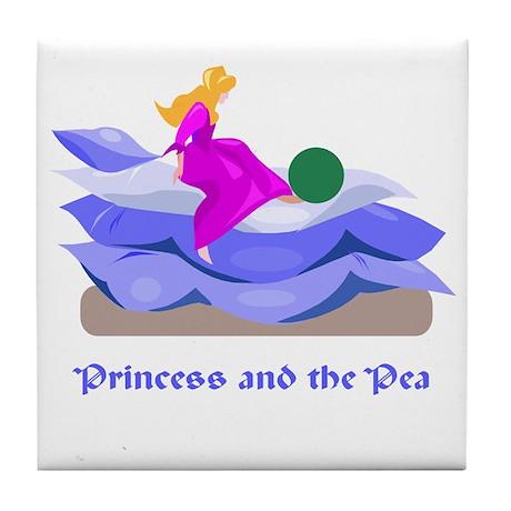 Princess and the pea Tile Coaster