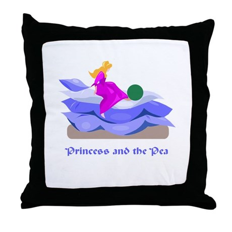 Princess and the pea Throw Pillow