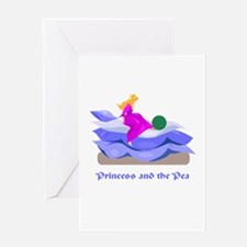 Princess and the pea Greeting Card