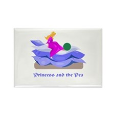 Princess and the pea Rectangle Magnet
