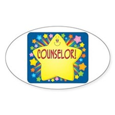 Star Counselor Oval Decal