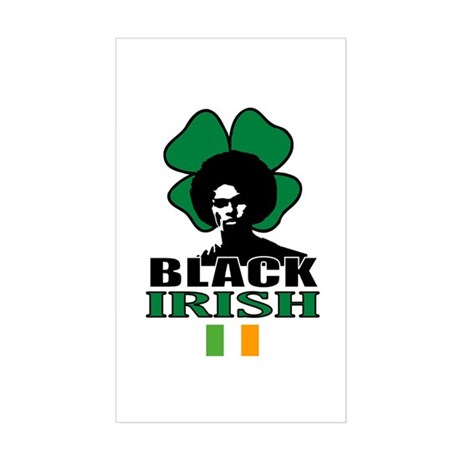 Black Irish Rectangle Sticker