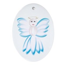 Angel Ornament (Oval)