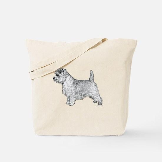 Cairn Terrier side Tote Bag