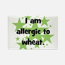 Allergic to Wheat - stars Rectangle Magnet