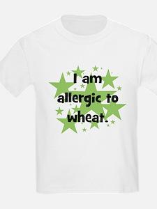 Allergic to Wheat - stars T-Shirt