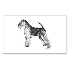 Airedale Terrier Rectangle Decal