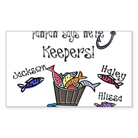 PawPaw says we're Keepers! Rectangle Sticker