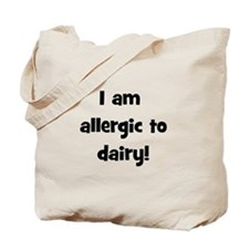 Allergic to Dairy - Black Tote Bag