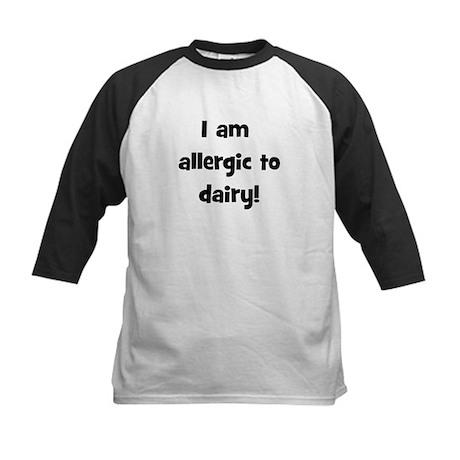 Allergic to Dairy - Black Kids Baseball Jersey