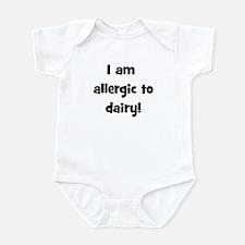 Allergic to Dairy - Black Infant Bodysuit