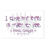 I Close my Eyes Postcards (Package of 8)