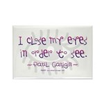 I Close my Eyes Rectangle Magnet (10 pack)