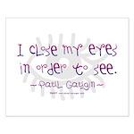 I Close my Eyes Small Poster