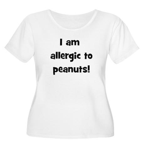 Allergic to Peanuts - Black Women's Plus Size Scoo