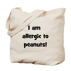 Allergic to Peanuts - Black Tote Bag