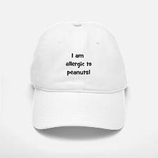 Allergic to Peanuts - Black Baseball Baseball Cap