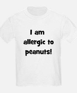 Allergic to Peanuts - Black T-Shirt