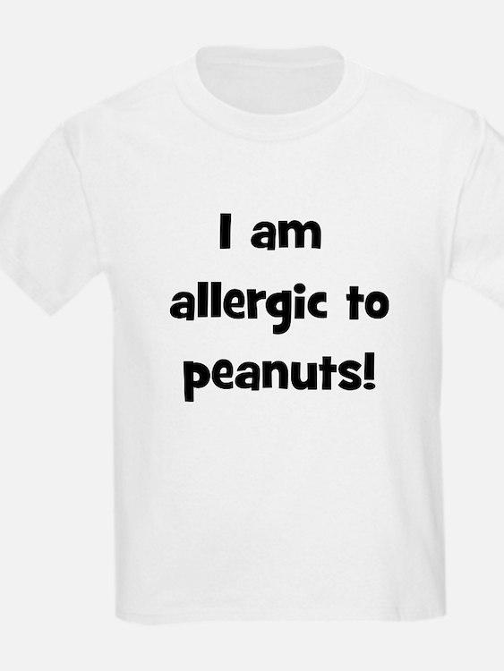 Allergic to Peanuts - Black T-Shirt