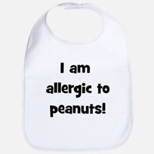 Allergic to Peanuts - Black Bib