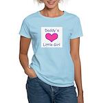 DADDYS LITTLE GIRL Women's Pink T-Shirt