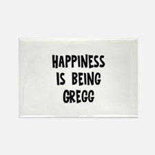 Happiness is being Gregg Rectangle Magnet