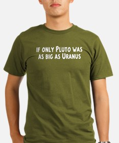 Pluto As Big As Uranus Black T-Shirt