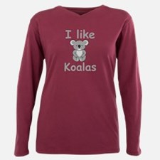 I like Koalas Plus Size Long Sleeve Tee