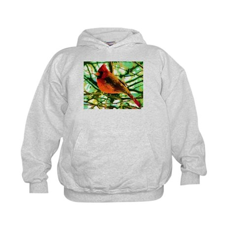 Cardinal Fauvist Oil Style Kids Hoodie