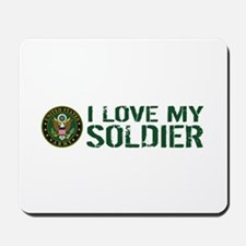 U.S. Army: I Love My Soldier (Green & Wh Mousepad
