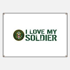 U.S. Army: I Love My Soldier (Green & White Banner