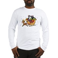 Singing Hill Dogs in Sleigh Long Sleeve T-Shirt