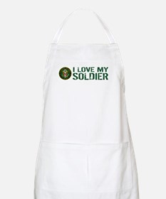 U.S. Army: I Love My Soldier (Green) Apron