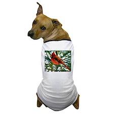 Cardinal Finch Impasto Dog T-Shirt