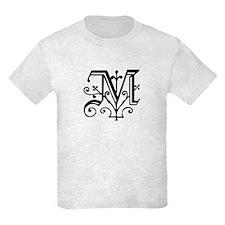 "Gothic ""M"" Initial T-Shirt"