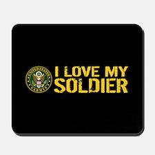 U.S. Army: I Love My Soldier (Black & Go Mousepad