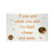 You Are What You Eat Rectangle Magnet (10 pack)