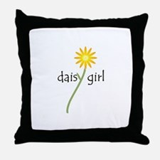 Daisy Girl Throw Pillow