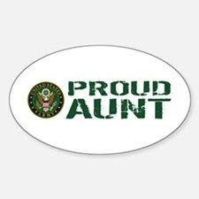 U.S. Army: Proud Aunt (Green & Whit Decal