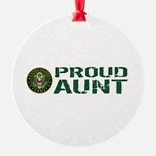U.S. Army: Proud Aunt (Green & Whit Ornament