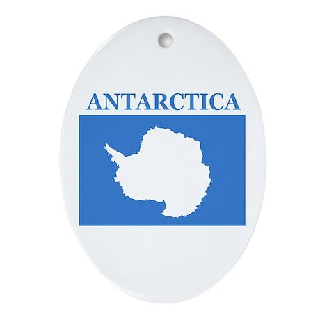 Antarctica Oval Ornament