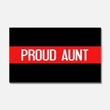 Firefighter: Proud Aunt (Red Li Car Magnet 20 x 12