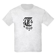 """Gothic """"T"""" Initial T-Shirt"""