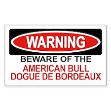 AMERICAN BULL DOGUE DE BORDEAUX Sticker (Rectangul