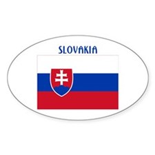 Slovakia Products Oval Decal