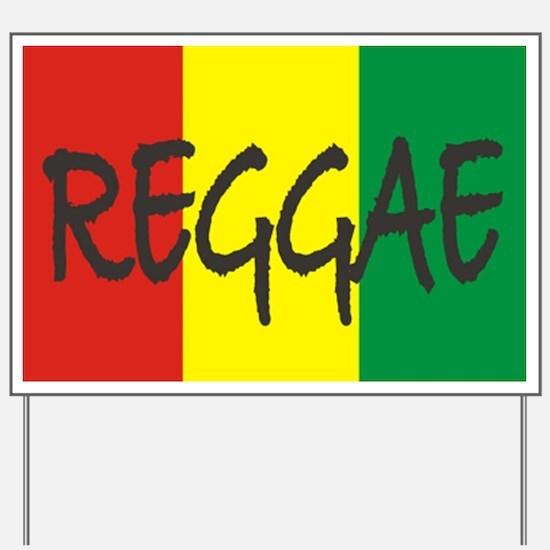 I Love Reggae Yard Sign